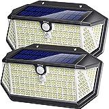 Luce Solare LED Esterno con Riflettore Luci, 266 LED Lampada Solare con Sensore di Movimen...