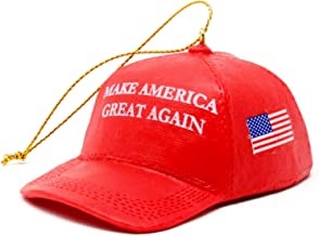 "KSA Donald Trump ""Make America Great Again"" Red Cap Ornament"