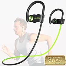 Wireless Earbuds,AUPAI Sports Bluetooth Headphones HiFi Bass Stereo w/Mic,IPX7 Waterproof in Ear Headset,Good Sound Wireless Headphones for Gym,Running,Workout,8 Hours Long Play Time
