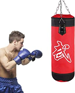 Hook Yosoo Health Gear Empty Punching Bag Empty Hanging Sand Bag Canvas Hanging Sandbag with Metal Chain Buckle for Fitness Training