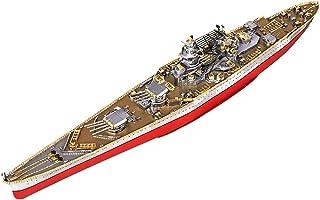 Piececool Puzzle 3D Kits de DIY Modèles de Navires en Métal Découpés au Laser Puzzles pour Adultes-Richelieu Battleship