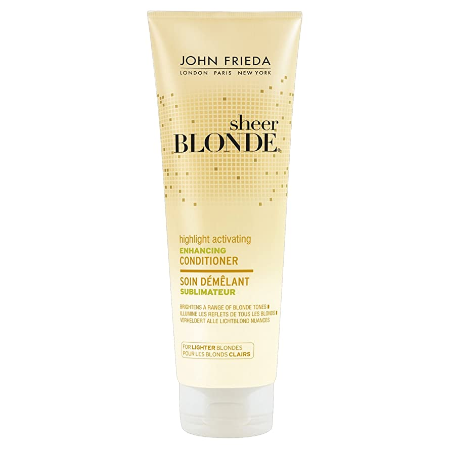 定規調べる誤解するJohn Frieda Sheer Blonde Highlight Activating Enhancing Conditioner for Lighter Blondes 250ml