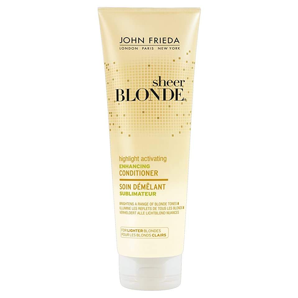ロゴヒップ限られたJohn Frieda Sheer Blonde Highlight Activating Enhancing Conditioner for Lighter Blondes 250ml