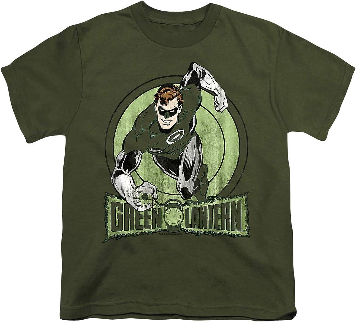 DC Green Lantern Unisex Youth T Shirt, Military Green, Medium