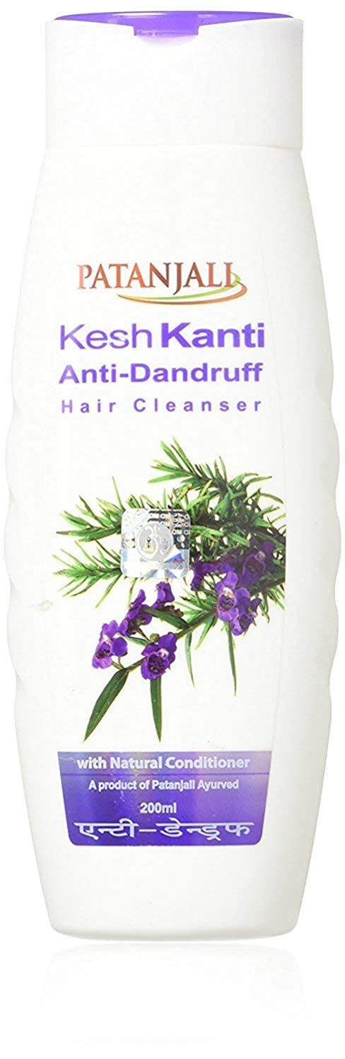 フォロー電球習慣Patanjali Kesh Kanti Anti-Dandruff Hair Cleanser Shampoo, 200ml