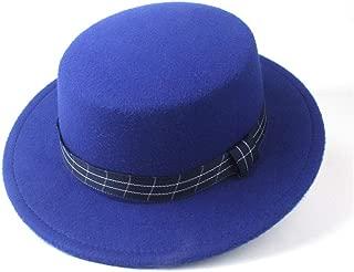 2019 Mens Womens Hats Mens Steampunk Women for Men Wool Flat Top Fedora Hat CBowler Hat for Gentleman Fascinator Tea Party Hat Lady Church Trilby Hat Autumn Pop Adjustable