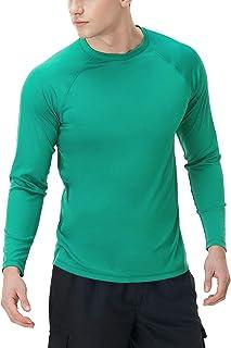 TSLA (Pack of 1, 2 Men's Rashguard Swim Shirts, UPF 50+ Loose-Fit Long Sleeve Shirts, Cool Running Workout SPF/UV Tee Shirts