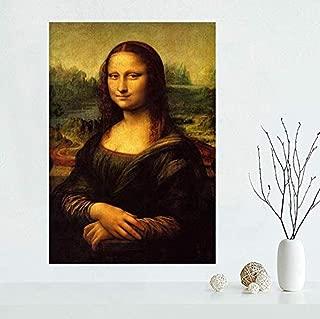 XQWZM Wall Art Picture Poster, Mona Lisa Canvas Poster Art Pictures, para la decoración del hogar Canvas Fabric Wall Poster Print 50X70Cm Sin Marco