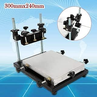 LianDu New Manual Solder Paste Printer, High Precision PCB SMT Stencil Printer, 30x24cm Printing Area PCB Solder Paste Screen Printing Machine