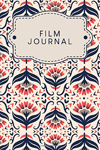 Film Journal: To capture all the movies and series you have watched to fill in | Design: Scandinavian Red-Blue