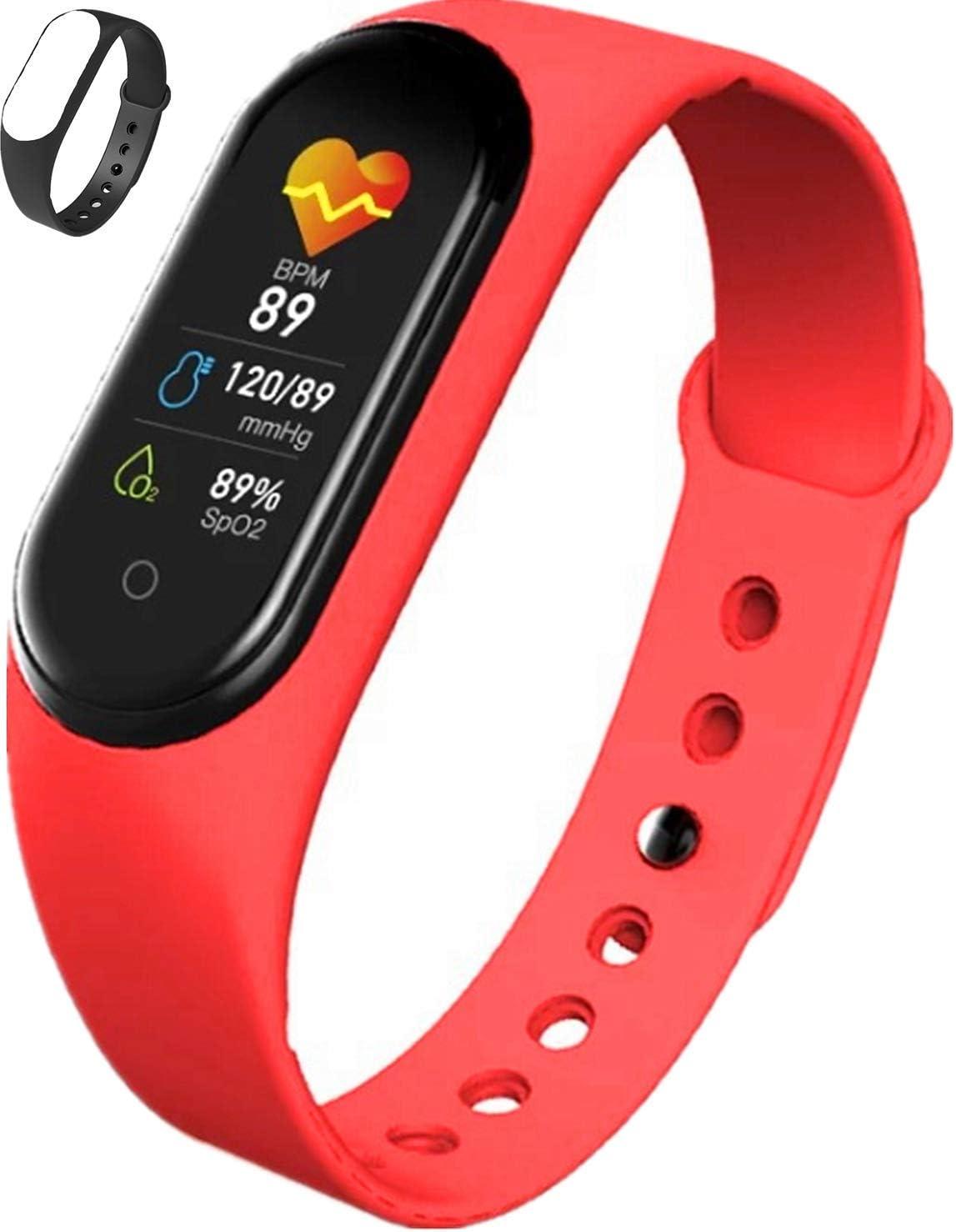 Smartwatch Fitness Tracker Hommes Femmes Moniteur de fr/équence Cardiaque Poignet Force podom/ètre activit/é Sportive