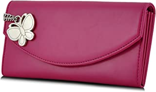 Butterflies Women's Wallet (Dark Pink) (BNS 2320 DPK)