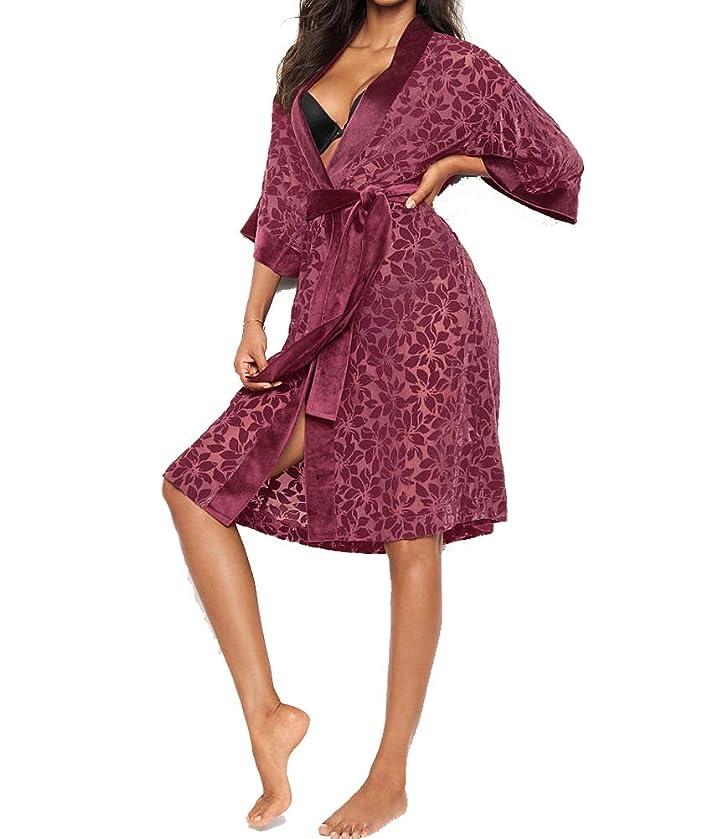 Victorias Secrets Very Sexy Velvet Applique Kimono Kir Xs/S
