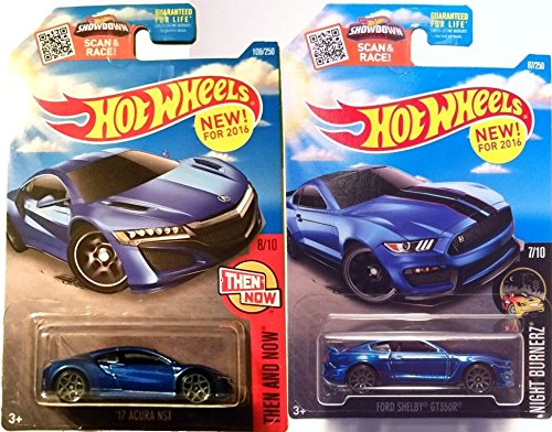 FORD Mustang Shelby GT350R Hot Wheels & /17 Acura NSX New Castings 2016 Fast car muscle Set in PROTECTIVE CASES
