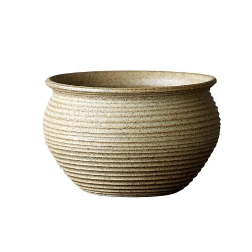センター協会蒸発するHXSD ジューシーなフラワーポットレトロフラワーポット大焦げたセラミック鍋 (Color : Beige, Size : 18*12cm)