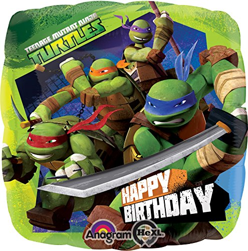 amscan Teenage Mutant Ninja Turtles Geburtstag Folie Ballon Standard