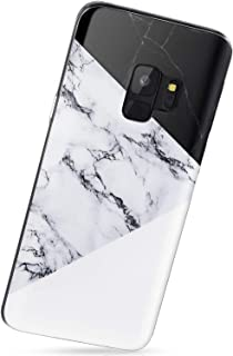 VIVIBIN Samsung Galaxy S9 Case, Black and White Marble for Men Women Girls,Anti-Scratch Slim Fit Silicone TPU Cover with Clear Bumper Protective Phone Case for Samsung Galaxy S9 5.8inch [2018]