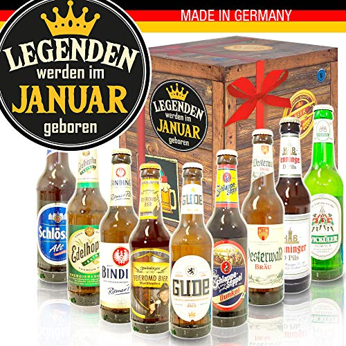 Legenden werden im Januar geboren/Deutsches Bier Geschenk/Januar Geschenke
