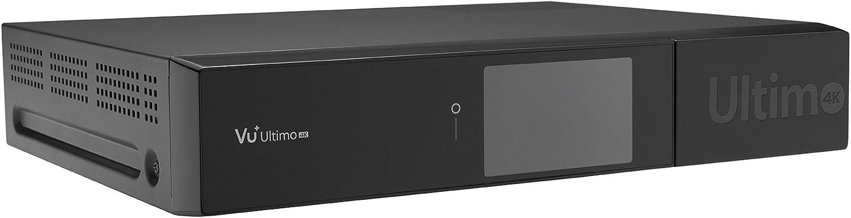 Vu+ Ultimo 4K TV Set-Top Boxes Satélite Alta Definición Total Negro - Reproductor/sintonizador (Satélite, DVB-C, 576p,720p,1080i,1080p,2160p, 4:3,16:9, H.264,H.265,MPEG4, AC3,MP3): Amazon.es: Electrónica