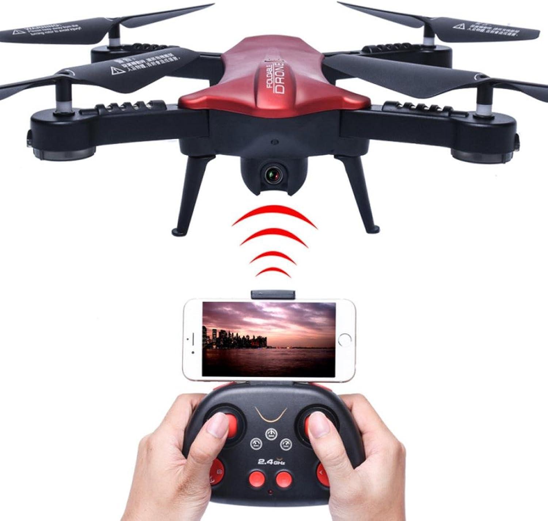 HKFV 2,4G 6Achsen RC Quadcopter Drohne FPV WiFi 2.0MP 120 ° FOV EchtzeitAnsicht faltbar 2 Millionen 120 ° Weitwinkelkamera Faltdruck hoch eingestellt (red)
