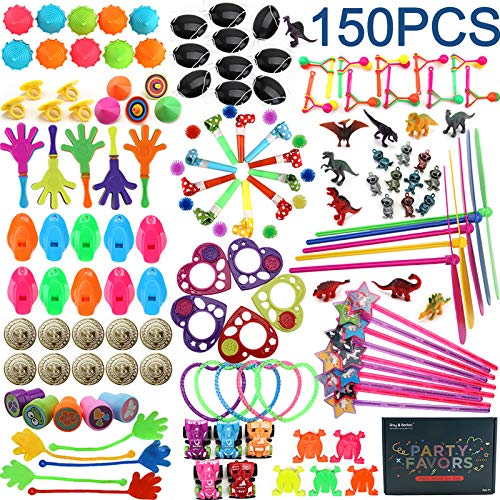 Amy&Benton 150PCS Party Favor Toys for Kids Birthday Pinata Filler Toys Carnival Prizes for Boys and Girls Treasure Box / Chest Treat for Classroom