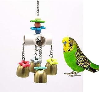 ZYYRSS Cloches Jouet avec Son Doux pour Oiseau Perroquet Ara Africain Gris Perruche Cage Jouet Cage Accessoires Amazon Cage