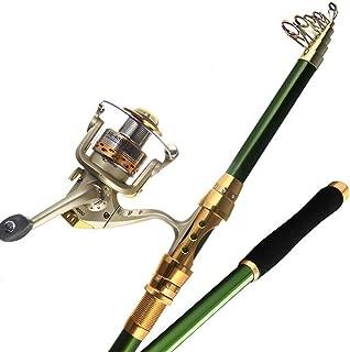 Ultra Light Super Hard Carbon Fiber Saltwater Telescopic Fishing Rod Far Distance Casting Pole 2.1, 2.4, 2.7, 3.0, 3.6M
