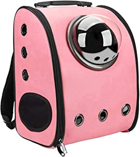 Gluckluz Pet Carrier Cat Dog Travel Bag Airline Approved Backpack Bubble Under Seat Space Capsule Soft-Sided for Small Ani...