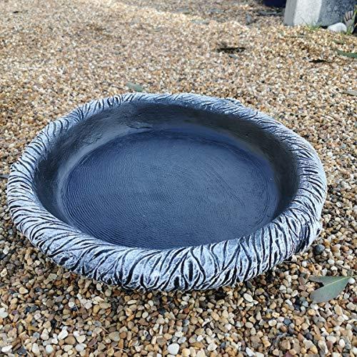 Garden Ornaments & Accessories 40cm Round Log Effect Ground Bird Bath or...
