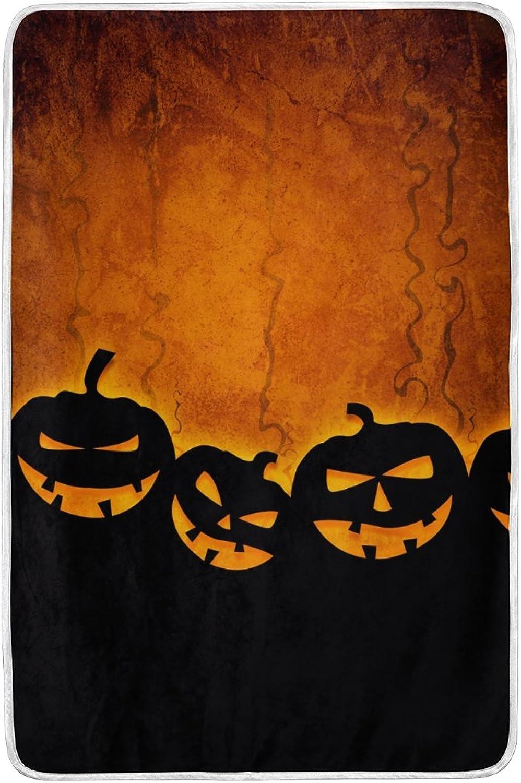 ALAZA Halloween Blankets Lightweight Blanket for Adults Men Women Girls Kids Girls Boys Teens Extra Soft Polyester Fabric Super Warm Sofa Blanket Throw Size 60 x 90 Inch