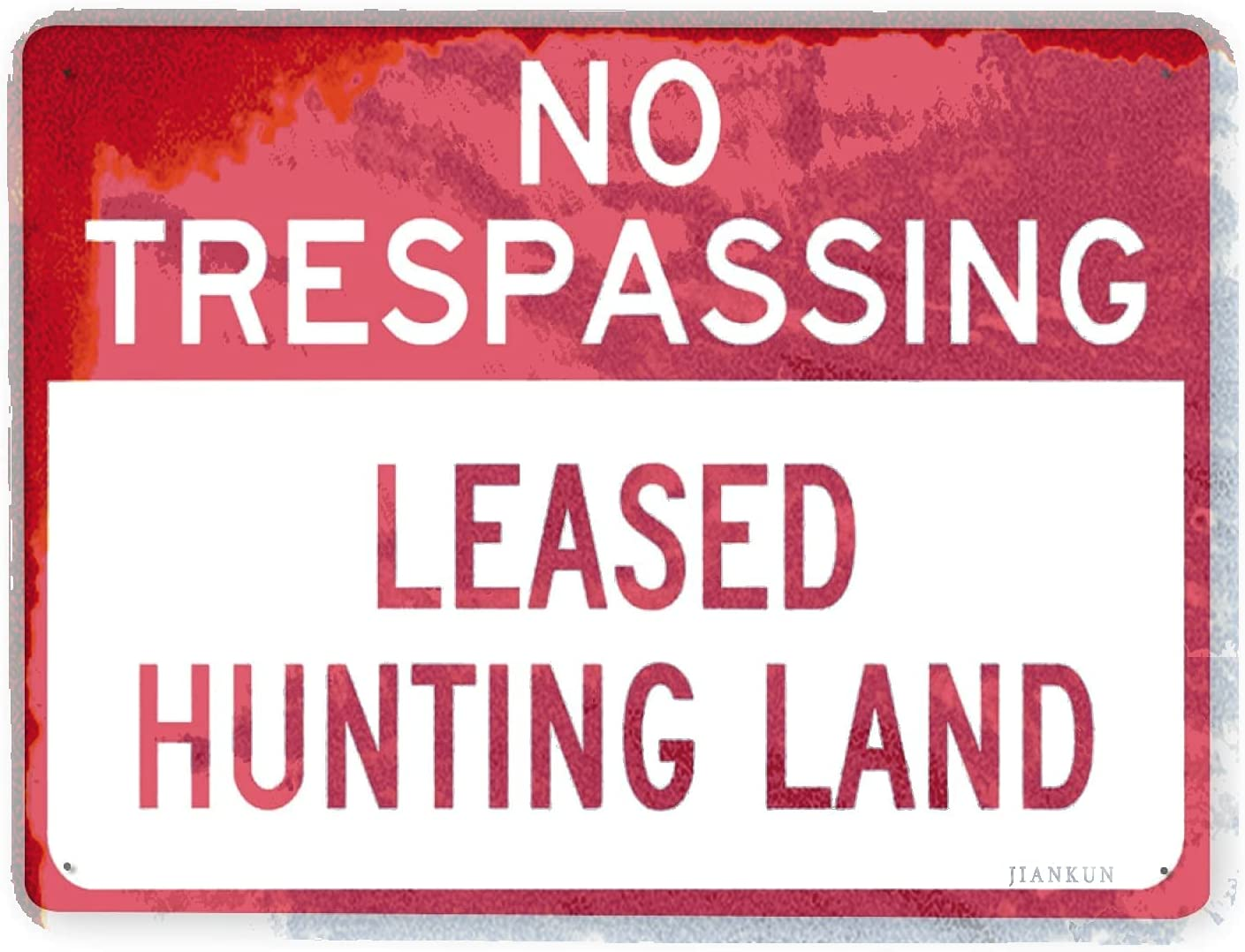 J.DXHYA Man Cave Decor Long-awaited 2 Pieces no Large discharge sale Leas Warning Sign Trespassing