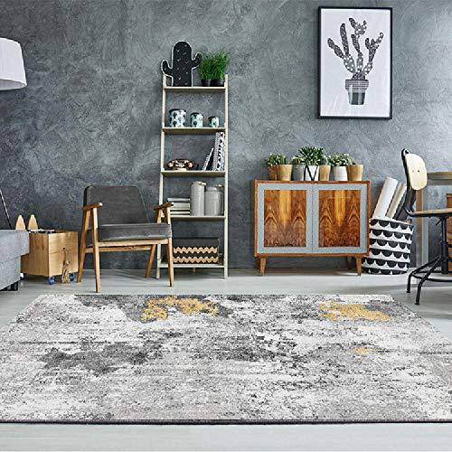 Alfombras decoración de habitación El diseño de Tinta Amarilla Negra Gris corredera no se desvanece la Alfombra Antideslizante para alfombras alfombras oficinas 200X300CM