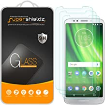 (3 Pack) Supershieldz for Motorola (Moto G6 Play) and Moto G Play (6th Gen) Tempered Glass Screen Protector, Anti Scratch, Bubble Free