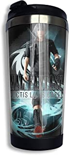 QEHAO Final Fantasy Xv - Noctis Coffee Travel Mug Cup Stainless Steel Vacuum Insulated Tumbler 13.5 Oz