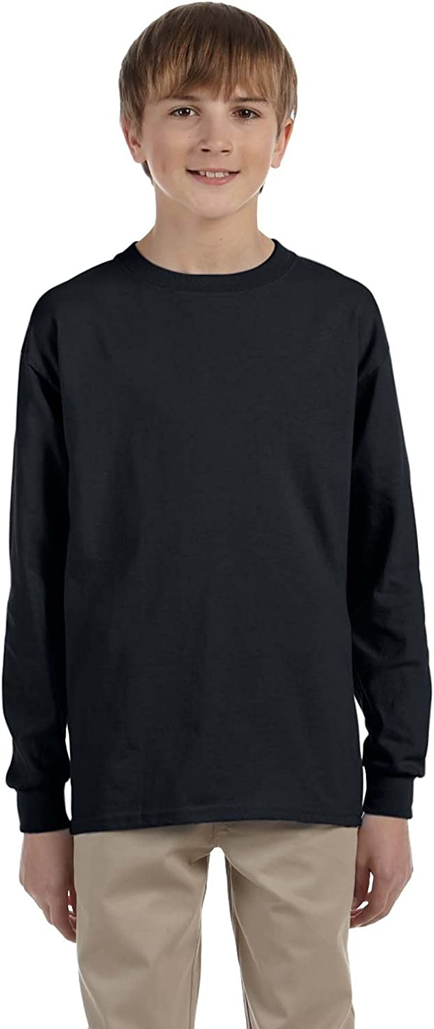 Product of Brand Gildan Youth Ultra Cotton6 oz Long-Sleeve T-Shirt - Black - S - (Instant Savings of 5% & More)