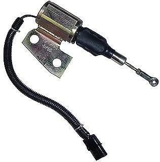 Fuel Solenoid Assembly - 12V Angle Bracket Case 580M 580 Super M 580L 580L 1840 570LXT 570LXT 90XT 85XT 580 Super L 580 Super L 1845C New Holland Case IH MX110 MX170 MX120 MX135 MX100 MX150 Cummins