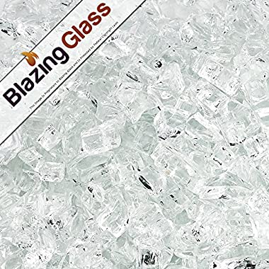 Blazing Fireglass 10-Pound Fire Glass with Fireplace Glass and Fire Pit Glass, 1/4-Inch, Star Fire