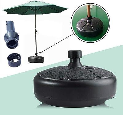 Felenny Patio Parapluie Base en Plein Air Rond Parasol Stand Base en Plastique Parapluie Base pour Jardin Plage Cour Mât de Mariage Arc Parapluie