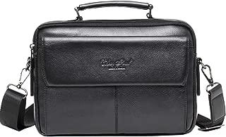 Hebetag Leather Shoulder Messenger Bag for Men Business Pack Wallet Phone Purse