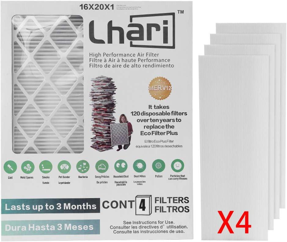 Popular brand in the world Lhari Max 76% OFF 16x20x1 Air Filter MERV 12 Re 1500 MPR AC Furnace