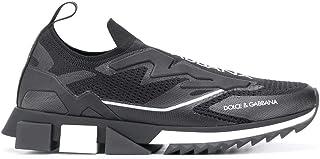 Luxury Fashion   Dolce E Gabbana Uomo CS1823AW47889690 Nero Poliammide Slip On Sneakers   Stagione Permanente