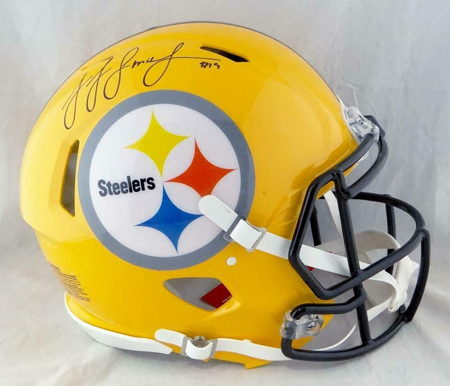 Signed Juju SmithSchuster Helmet  F S Yellow Speed Authentic Beckett W  Beckett Authentication  Autographed NFL Helmets