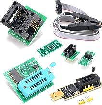 Nishore CH341A Kit de programador USB com SOP8 Clip EEPROM Burner BIOS Flasher SPI Flash Programmer Kit com adaptador de 1...