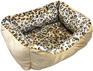 Cama para Mascotas de tamaño pequeño con Estampado de Leopardo