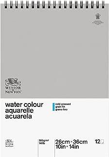 Winsor & Newton 6663248 Classic Watercolor Paper Spiral Pad, Cold Pressed 140lb, 10