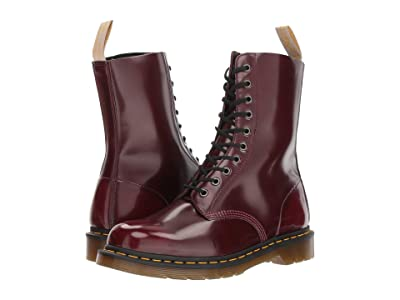 Dr. Martens 1490 Vegan (Cherry Red Cambridge Brush) Boots