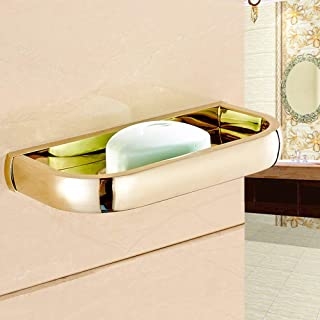 Modern Gold Color Brass Bathroom Wall Mounted Soap Dish Holder qba847