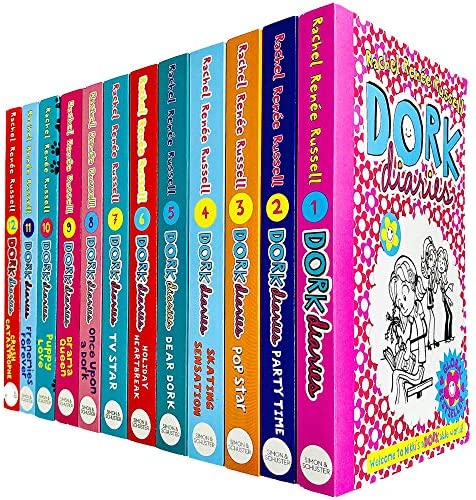 Dork Diaries Books 1 12 Collection Set by Rachel Renee Russell Party Time Popstar Dear Dork product image