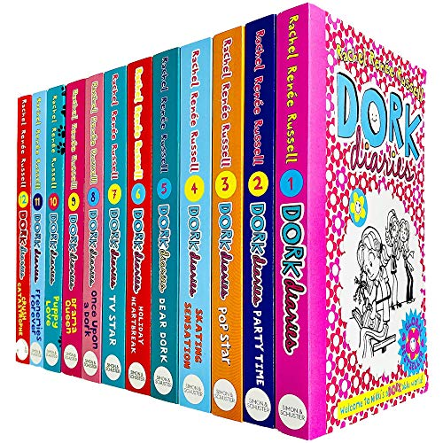 Product Image of the Dork Diaries By Rachel Renee Russell 12 Books Collection Set (Puppy Love,...