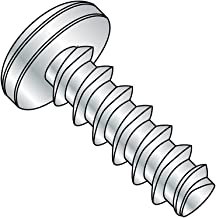 Steel Thread Rolling Screw for Plastic, Zinc Plated, Pan Head, Phillips Drive, #3-24 Thread Size, 1/4